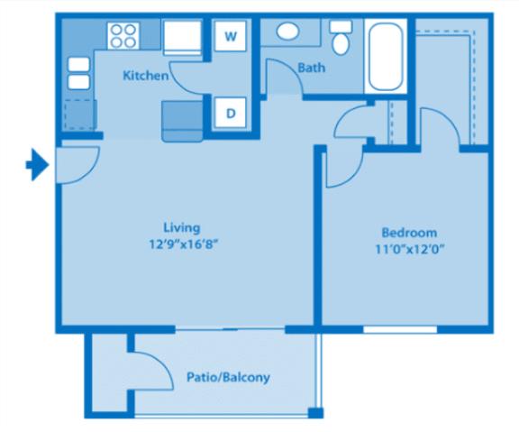 Floor Plan  Sundown Village 1A Floor Plan image depicting floor plan layout.