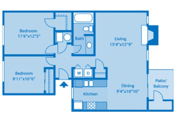 Floor Plan  Sundown Village 2A Floor Plan image depicting floor plan layout.