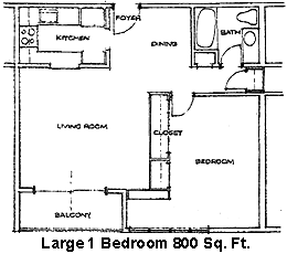 Floor Plan  Woodland Estates Deluxe 1-Bedroom Floor Plan