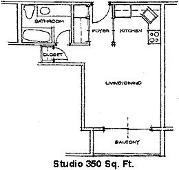 Floor Plan  Woodland Estates Studio Floor Plan