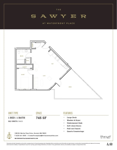 Floor Plan  1x1 Medium North