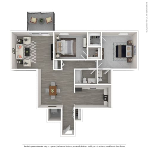 Floor Plan  2D - Renovated