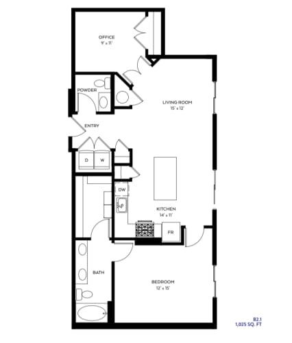 Floor Plan  B2-1