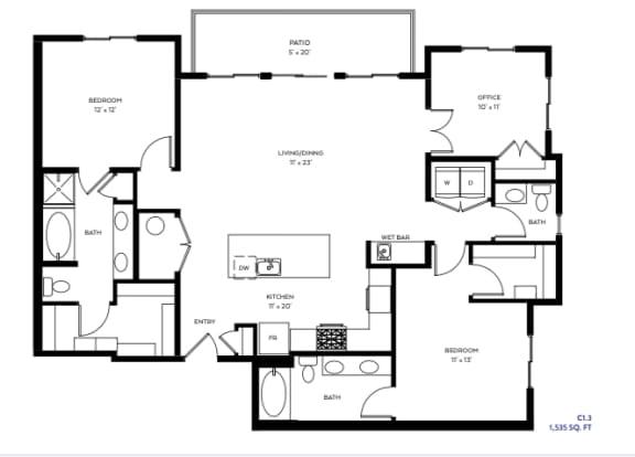 Floor Plan  C1-3