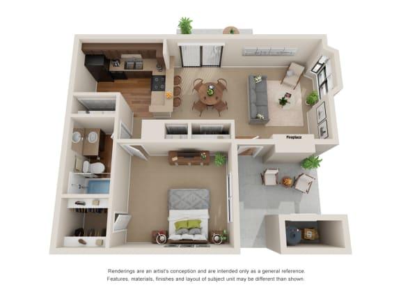 Floor Plan  2 Bedroom Floorplan