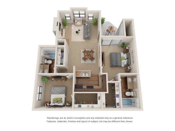 Floor Plan  2 BedroomFloor Plan