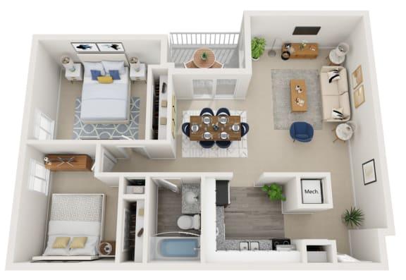 Floor Plan  Two bedroom floorplan
