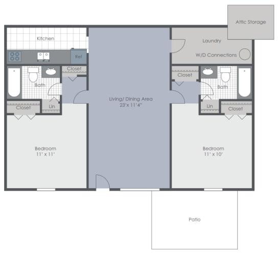 Floor Plan  Two bedroom floor plan image