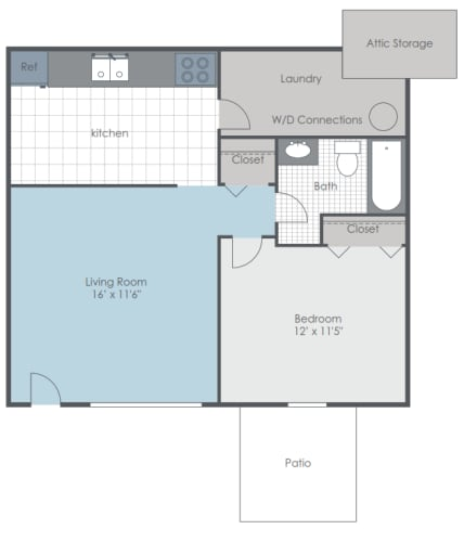 Floor Plan  One bedroom floor plan layout
