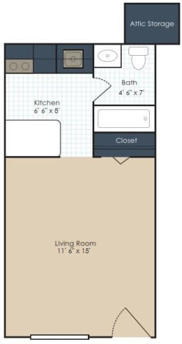 Floor Plan  The Bristol - Renovated