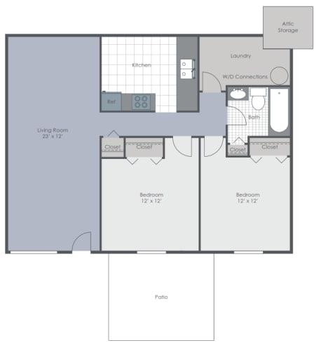 Floor Plan  2 bedroom floor plan layout