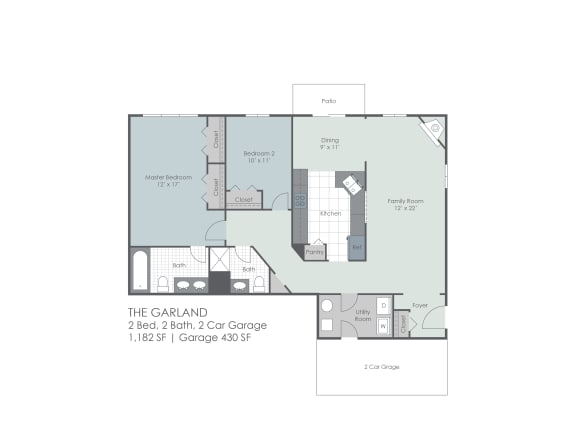 Floor Plan  Two bedroom with den floorplan layout