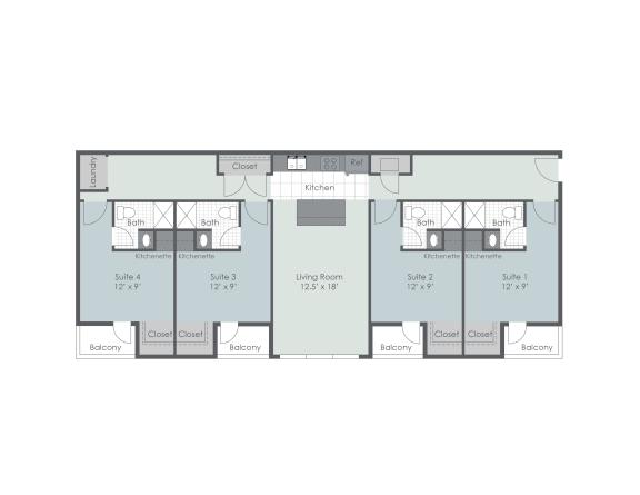 Floor Plan  Phase II, 4 bedroom floor plan layout