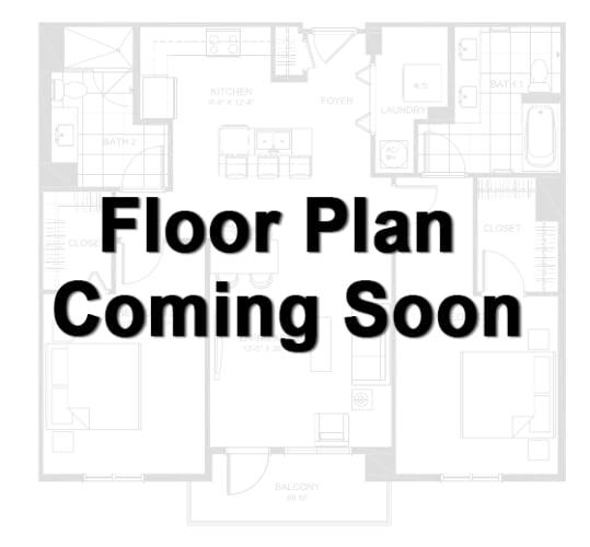Floor Plan  2 Bed 2 Bath Upgraded