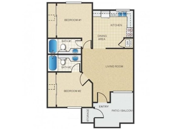 Floor Plan  Mission Springs Apartments Canyon Floor Plan