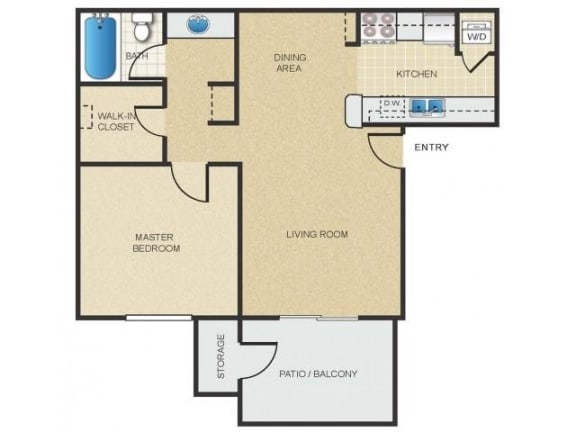 Floor Plan  Mission Springs Apartments Patagonia Floor Plan