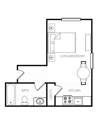 Floor Plan  Studio - Large