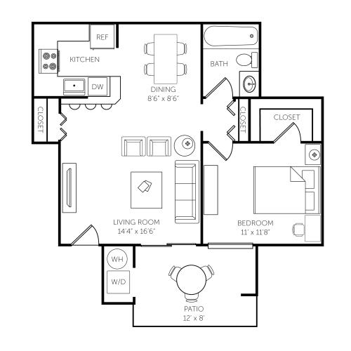 Floor Plan  El Paseo Apartments Floor Plan C