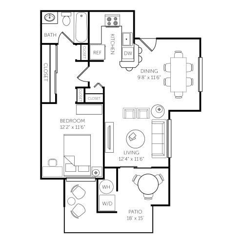 Floor Plan  El Paseo Apartments Floor Plan D
