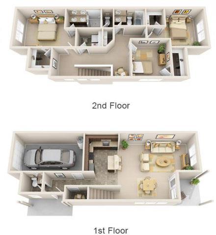 Floor Plan  The Landing Apartments The Savannah 3x2.5 Floor Plan 1648 Square Feet