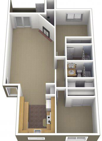 Floor Plan  Riverwood Apartments 2x2 Floor Plan 1000 Square Feet, opens a dialog.