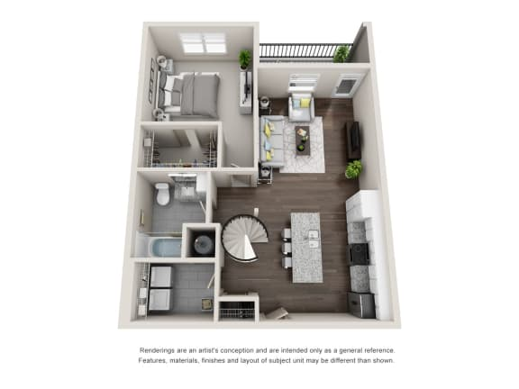 Floor Plan  Ormond 1FL 1 Bedroom 1 Bathroom Floor Plan at Tomoka Pointe, Daytona Beach, 32117