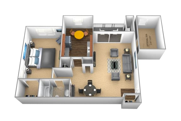 Floor Plan  1 bedroom 1 bathroom floor plan at Cromwell Valley Apartments in Towson MD
