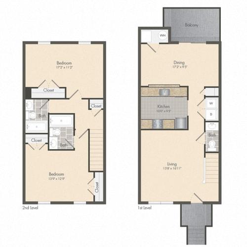 Floor Plan  Stephens - Townhome