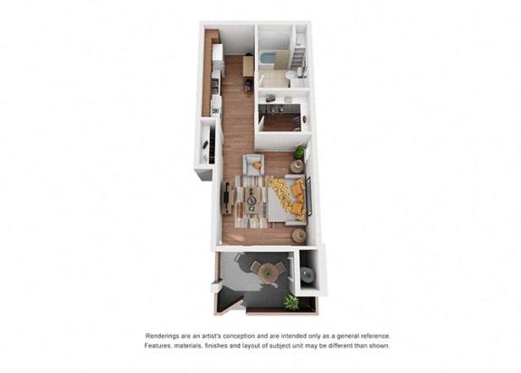 Floor Plan  Studio floor plan 7, at Villa Del Sol, Santa Maria
