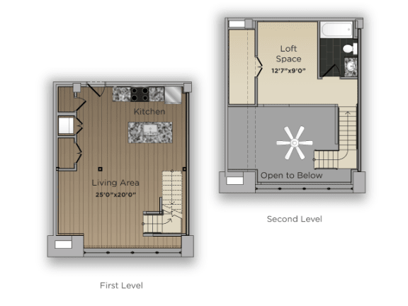 Floor Plan  One Bed One Bath Counselor Large Floor Plan at 101 Ellwood, Maryland, 21224