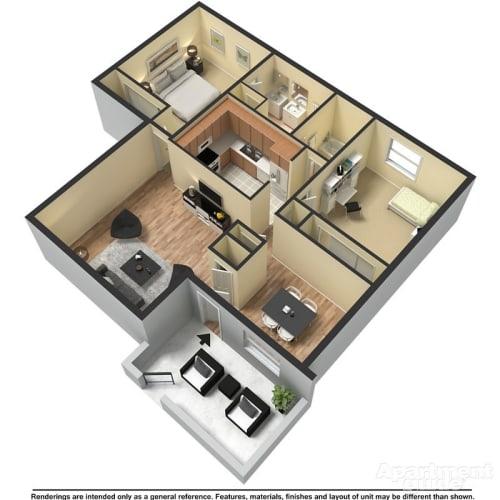 Floor Plan  B5 - Astor and Columbia