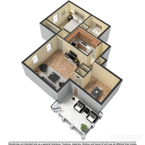 Floor Plan  A2 - Emerson and Hawthorne