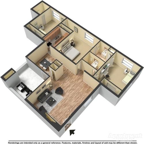 Floor Plan  C3 - Granville and Hampton