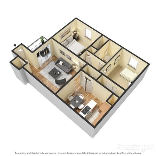 Floor Plan  B2 - Webster