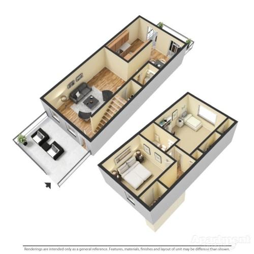 Floor Plan  B3 - Williamsburg