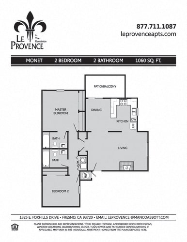 Floor Plan  Monet, Downstairs Floor Plan at Le Provence at the Dominion, Fresno, CA
