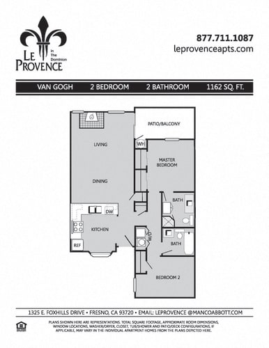 Floor Plan  Van Gogh, Upstairs Floor Plan at Le Provence at the Dominion, Fresno