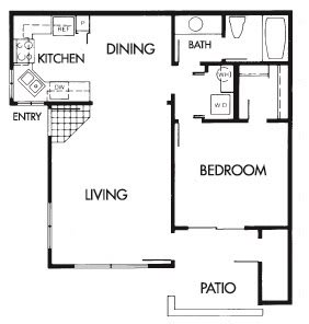 Floor Plan  1 Bed 1 Bath B Floor Plan at Elevate at Discovery Park, Arizona, 85283