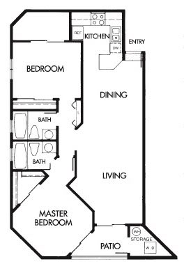 Floor Plan  2 Bed 2 Bath E Floor Plan at Elevate at Discovery Park, 1820 East Bell De Mar Drive, AZ