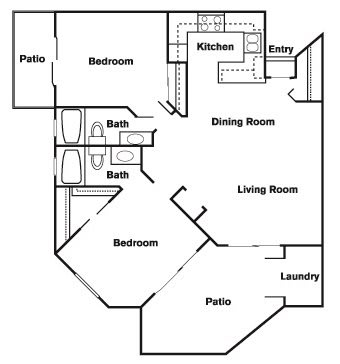 Floor Plan  2 Bed 2 Bath F Floor Plan at Elevate at Discovery Park, Tempe, AZ