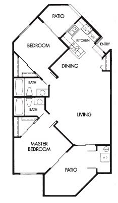 Floor Plan  2 Bed 2 Bath G Floor Plan at Elevate at Discovery Park, Tempe, 85283