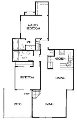 Floor Plan  2 Bed 2 Bath D Floor Plan at Elevate at Discovery Park, 1820 East Bell De Mar Drive
