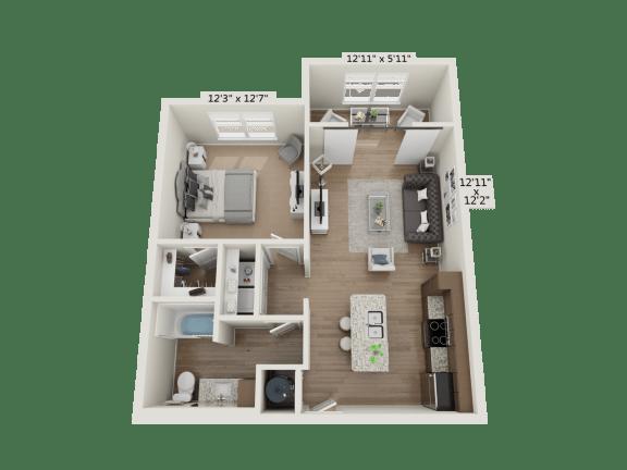 Floor Plan  1BR