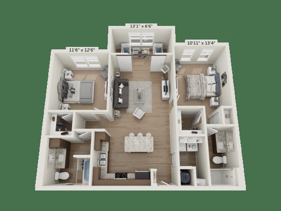 Floor Plan  2BR