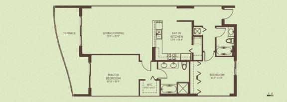 Floor Plan  Unit C - 2 Bedroom