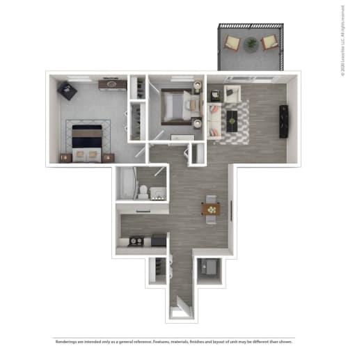 Floor Plan  2A-Renovated, opens a dialog.