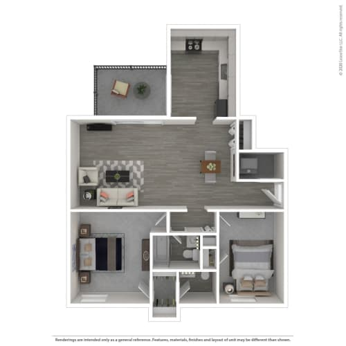 Floor Plan  2C-Renovated, opens a dialog.