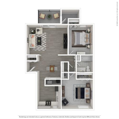 Floor Plan  2B-Renovated, opens a dialog.