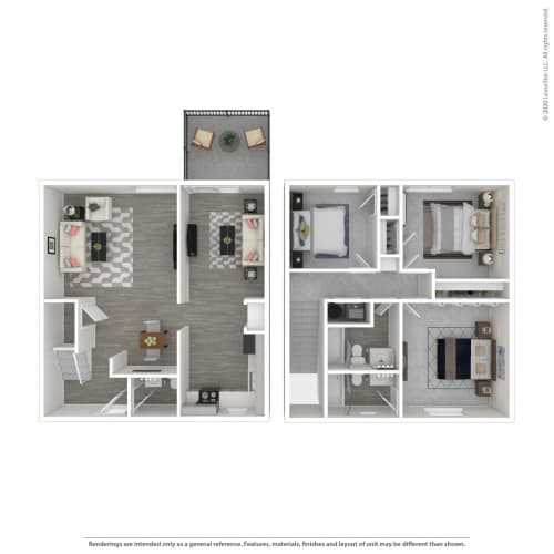 Floor Plan  3B TH-Renovated, opens a dialog.