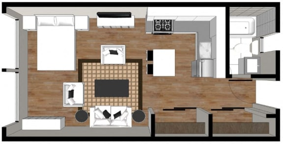 Floor Plan  Studio Floor plan 2000 Walnut